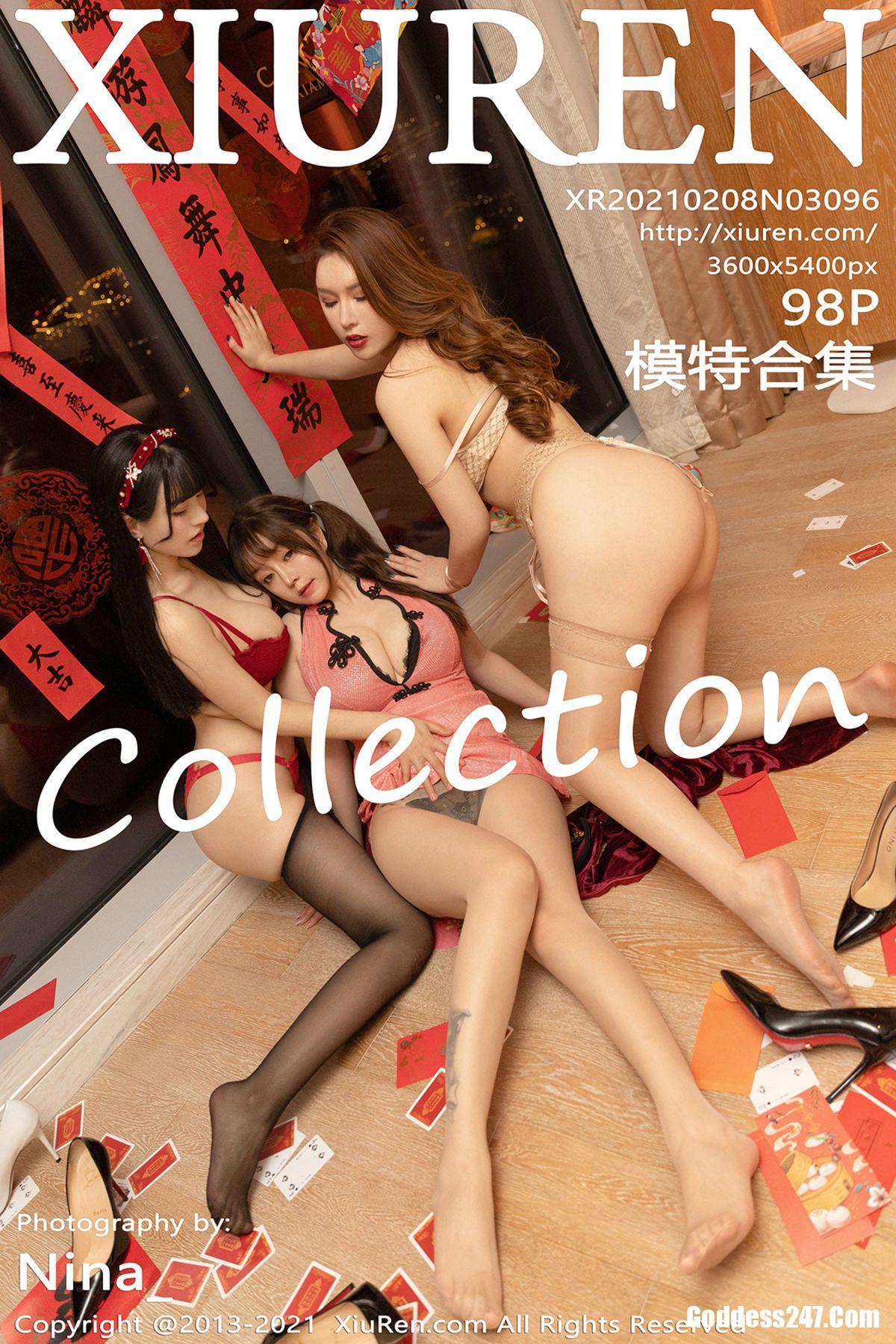 XiuRen秀人网 No.3096 Egg-尤妮丝Egg & 王雨纯 & 朱可儿Flower